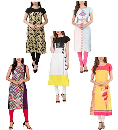 Mastani Kreation Kurtis for Women Combo of 5 XS to XXL Multicolor...