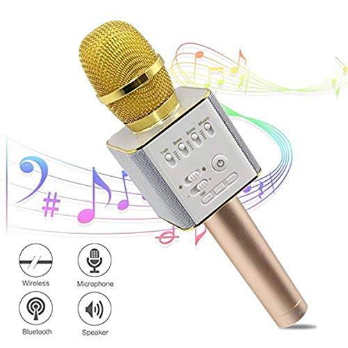 PUREVIEW Handheld Wireless Microphone With Bluetooth Speaker For All IOS/Android Smartphones (Colour May Vary- 1 pic)