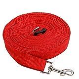 MeFe 50ft Rot extra lange Linie Training Hundeleine für große, mittlere und kleine Hunde - lange führen - ideal für Training, spielen, Camping oder Hinterhof
