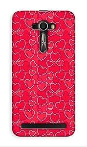 Mott2 Back Case for Asus Zenfon Selfie | Asus Zenfon SelfieBack Cover | Asus Zenfon Selfie Back Case - Printed Designer Hard Plastic Case - love theme