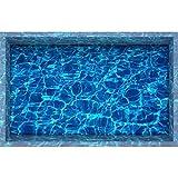 Vitila Kreative Sticker Dekoration Wohnzimmer Schlafzimmer Bad Persönlichkeit 3D Wandaufkleber Simulation Klar Meerwasser Selbstklebende Plakat PVC Abnehmbare Tapete Wandtattoos