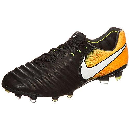 Nike Mens Tiempo Legend Vii Fg Scarpe Da Calcio Nero / Bianco-laser Arancione-v