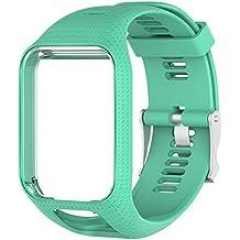 Sdreamland Tomtom Bracelet de Montre, Remplacement Silicagel Bracelet Longueur DE 25cm pour Tomtom Runner 2, Chemin DE 3, Spark, Golfeur 2Sports Montre GPS