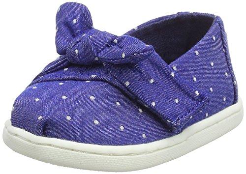TOMS Unisex Baby Alpargata Classic Espadrilles Blau (Imperial Blue Dot Chambray/Bow 420) 28.5 EU -