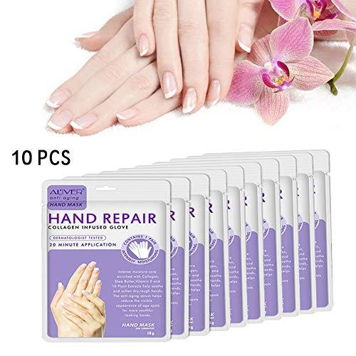 leegoal Whitening Hand Mask, Handpeel Maske Feuchtigheitshandschuhe Beruhigende Whitening Hydratation Peeling Off Entfernt abgestorbene Haut & Schwielen für die trockene Haut -