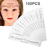 Leoie Disposable Eyebrow Ruler Sticker Eyebrow Shaping Tools Stencil Makeup Drawing Template