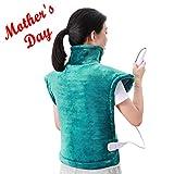 MaxKare Heizkissen für Rücken Schulter Nacken Abschaltautomatik Wärmekissen Heizschal und Schneller Heiztechnologie für Entlastung von Rücken und Schultern Heizdecke Ungewöhnliche Größe 60 x 90 cm