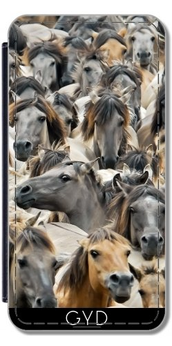 514ynJge BL UK BEST BUY #1Flip Cover Case for Huawei P8 Lite (ALE L21)   Horses wild herd Duelmener by Katho Menden price Reviews uk