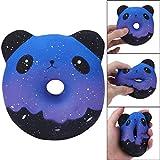 TWBB Squishy Spielzeug, Galaxy Panda Donuts Quetschen Puppen Stress entlasten Creme Duftend Geschenk Zart Spielzeug Geeignet für Mehr als 6 Jahre Alt (Mehrfarbig)
