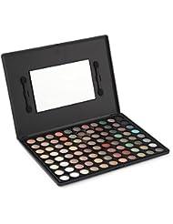 LaRoc ® 88 Colour Eyeshadow Palette Makeup Kit Set Box with Mirror - Matte Tones
