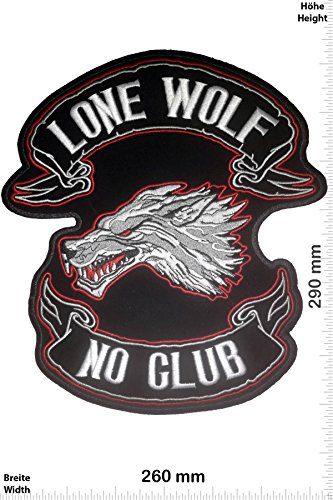Borten & Embellishments Lone patch Free Biker Applikationen Embroidered Patch 9 x 4 cm