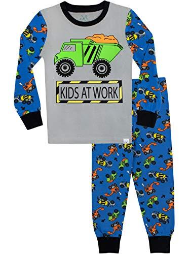 Harry bear pigiama a maniche lunghe per ragazzi bambini al lavoro vestibilitta stretta 3-4 anni