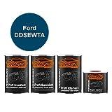 TRISTARcolor Autolack Set Dose spritzfertig für Ford DDSEWTA Blue Candy Metallic/Aruba Blau Metallic Grundlack + Basislack + 2K Klarlack 3,5L
