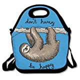 Lunch Lunchbox Lunch Tote Funny Sloth Climbing School Picnic Bag Container Package Insulated Reusable Container Organizer for, Adults, Kids