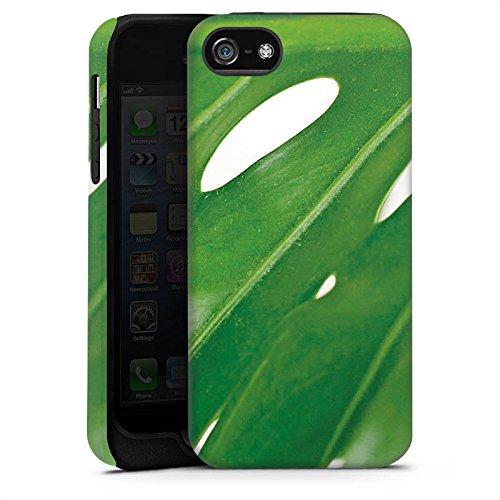 Apple iPhone X Silikon Hülle Case Schutzhülle Palmenblatt Blatt Philodendron Tough Case matt
