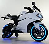 #10: MyWholesale dot in Bike for Kids with 12V Battery Operated, Spring Suspension, Wheels Light, Music Option and Hand Accelerator