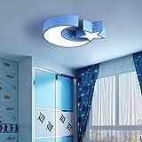 Enfants dans la chambre de la chambre des filles lumière led plafonnier pour les garçons et les filles Princesse chambre chaude star romantique lumières (50cm x 10cm) Energy Light étoile Moon Eye Care Enfants Lampes , blue - warm light