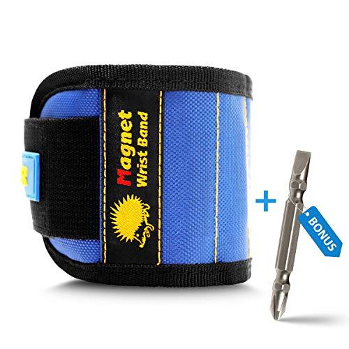 IGEL Magnetisches Werkzeug-Armband mit PH-SL Bit; Werkzeuggürtel Magnetarmband hält Schrauben, Nägel, kleine Werkzeuge, Bits, Stecknadeln. Hand-Werkzeuggürtel