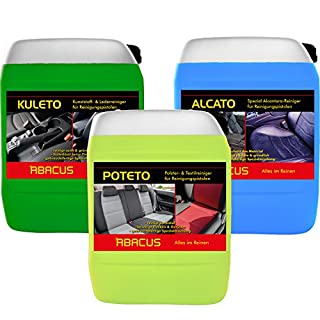 ABACUS Tornador Reiniger Set (7361) - 1x 5 Liter ALCATO + 1x 5 Liter KULETO + 1x 5 Liter POTETO - gebrauchsfertige Reiniger für Reinigungspistolen