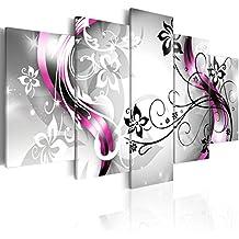 murando Cuadro en Lienzo 200x100 cm - 3 tres colores a elegir - 5 Partes - Formato Grande - Impresion en calidad fotografica - Cuadro en lienzo tejido-no tejido - flores abstraccion 020110-151 200x100 cm