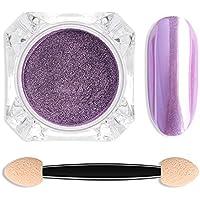 Polvo de espejo de uñas, 6 colores Nail Art Decoraciones Nail Mirror Shining Powder DIY Nails Art Glitter Powder.