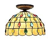 YJFFAN Europäischer Stil Einfache Dämmerung Deckenlampen, Moderne Dekoration Deckenlampe Für Wohnzimmer, Restaurant Aisle Bad Farbige Perlen Glasdecken Licht