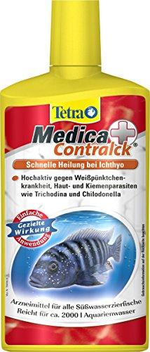 Tetra Medica Contralck (Arzneimittel für tropische Zierfische zur Behandlung der Pünktchenkrankheit und anderen Hautparasiten), 500 ml Flasche