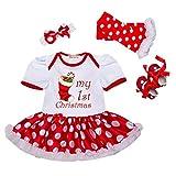 4PCS Neonate mio primo Natale costume della Santa del partito del vestito, 12-24 mesi
