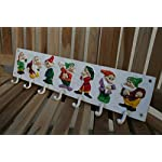 Cast Iron Coat Hooks Seven Dwarves Vintage Style Painted Coat Rack