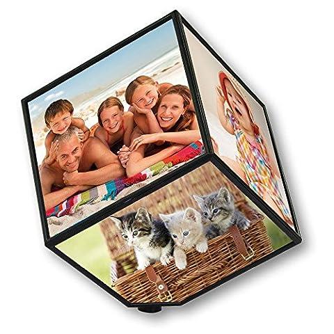 Cube Transparent - Cube cadre photo tournant Grand modèle (6
