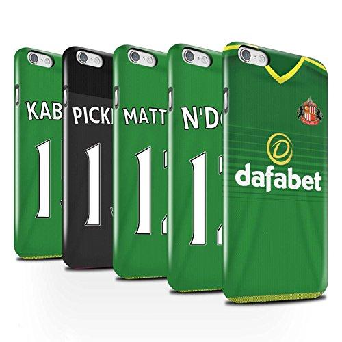 Officiel Sunderland AFC Coque / Clipser Brillant Etui pour Apple iPhone 6S / Pack 24pcs Design / SAFC Maillot Extérieur 15/16 Collection Pack 24pcs
