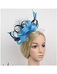 Jelinda mujeres novia de plumas de multi color Clip de Cabello Tocado Accesorio para el pelo