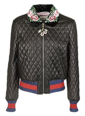 Gucci Women's 479047XG4621082 Black Other Materials Outerwear Jacket from GUCCI