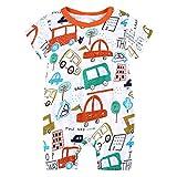 Julhold Toddler Kids Neonati Moda Cartoon Stampa Casual Pagliaccetto di Cotone Tuta Outfit Abbigliamento Estate 0-18 Mesi