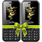 GLX W8 Black+W8 Black Combo Of TWO Mobiles 1.8 Inch, Dual Sim Basic Feature Phone With 950 MAh Battery, Wireless FM, Bluetooth, Camera, Call Recording, MP4, Internet & 1 Year Warranty …