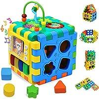 Forstart Baby Activity Cube   Kids Interlocking Puzzles Tiles Toddlers Toys Early Development Educational Skill Shape Sorter Beads Maze