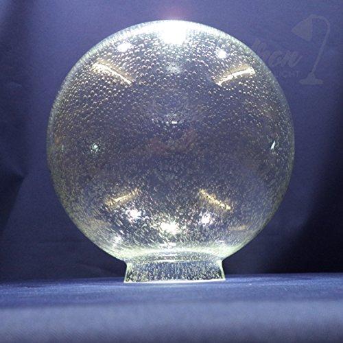 Kugel Blasenglas Ersatzglas Lampenschirm Glas f.Außenleuchten Ø250mm mit Kragenrand Ø90mm