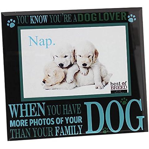 Dog Lover Glass-Cornice per foto, 6 x