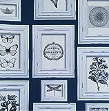 Wandrahmen Shabby Chic Landhaus blau grau und beige aus Vinyl abwaschbar Reality 2 Cod 51144109