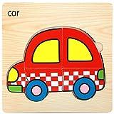 Squarex en bois Lovely puzzle Educational développement bébé enfants formation jouet Cadeau Auto pour bébé