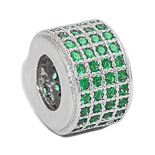 Charm da donna con ciondoli in argento sterling 925 con zirconi di secret & you   perfetto per pandora, secret & you braccialetto perline o simile.