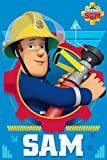 Jerry Fabrics Kinder Fleecedecke und Wurf, Feuerwehrmann Sam Charakter, Polyester, Mehrfarbig, 150 x 150 x 0.3 cm