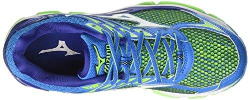 Mizuno Wave Enigma, chaussures de course homme Multicolore (DivaBlue/White/GreenGecko)