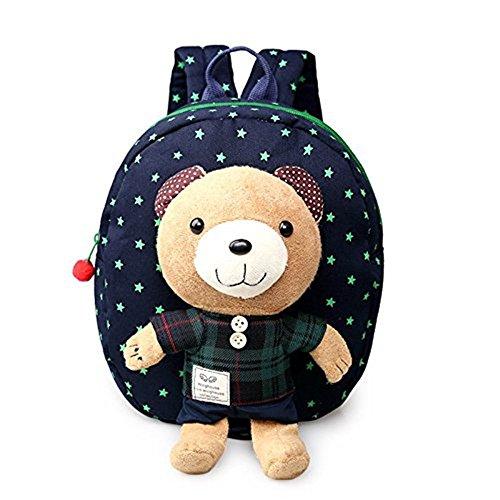 Rainbow Fox Bär Rucksack Kinderrucksack Kindergartentasche Chic und Praktisch Kinderrucksäcke (Blau)