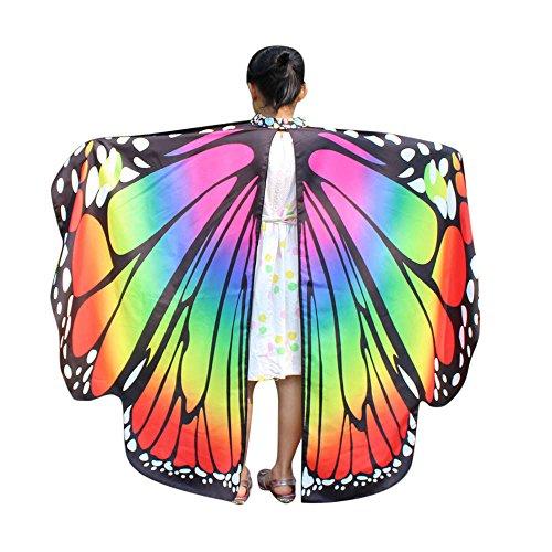 Allence Baby Accessoires Kinder Schmetterlingsflügel Jungen und Mädchen Kostümzubehör Weihnachten Trenchcoat Im Freien Drachen Fliegen Mantel Schal Damen Poncho Karneval heißen
