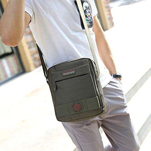 Outreo Borse a Spalla Viaggio Borsa Tracolla Uomo Borsetta Sport Sacchetto Vintage Messenger Bag Borsello per Tablet Tasche Studenti Blu