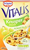 Dr. Oetker Vitalis Knuspermüsli klassisch: Knuspriges Frühstücksmüsli mit Rosinen, 7er Packung (7 x 600g)