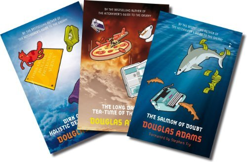 By Douglas Adams - Douglas Adams (Three book set, includes The Salmon of Doubt, Dirk Gently's Holistic Detective Agency, and The Long Dark Tea-Time of the Soul)
