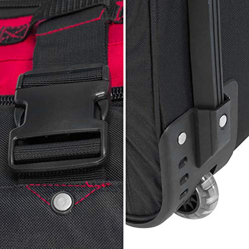 BoGi Bag Unisex– Erwachsene Reistrolley 110 Liter-Rot/Schwarz Reisetasche 85 cm - 8