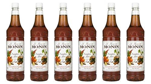 Monin Sirup Pumpkin Spice, 1,0L PET, 6er Pack Monin Pumpkin Spice